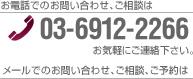 お電話でのお問い合わせ、ご相談は 03-6912-2266 お気軽にお電話下さい。